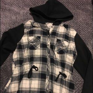 Harley Davidson flannel with hood